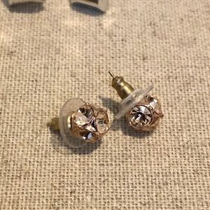 Kate spade blush and gold stud earrings